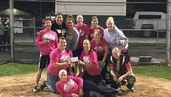 S&R Trucking took first in the Forestville Women's Modified Softball League after playing a double header with the second game going 10 innings Wednesday night.  Back row, from left: Kim Miller, Holly Malvitz, Brittney Londo, Natalie Marchant, Sherry Buhr, Heidi Aldrich. Middle row, from left: Jackie Herlache, Katie Miller, Megan Hawkey, Gretchen Mueller. Front row: Erica Griep.  Not pictured: Chey McFarlin, Linsey Pierre and Lisa Deremo.