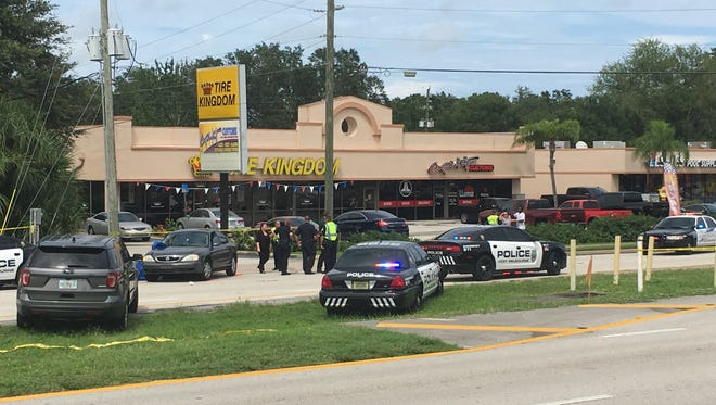 A pedestrian was struck and killed in Melbourne on US 192 Tuesday.