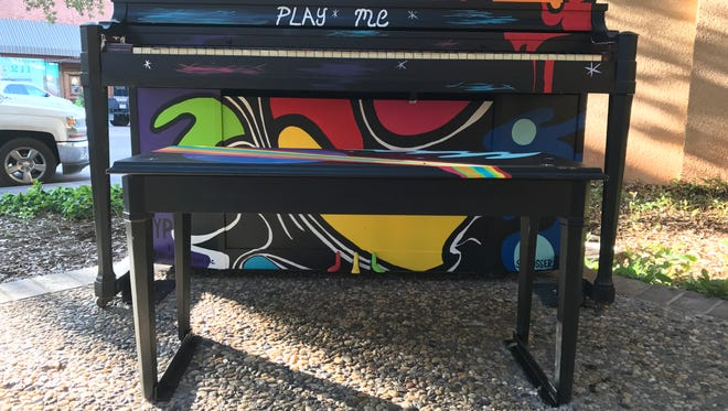 The Abilene Young Professionals dedicated the Key City Keys piano on Thursday, Sept. 7, 2017, at the Vera Hall Minter Memorial Park.