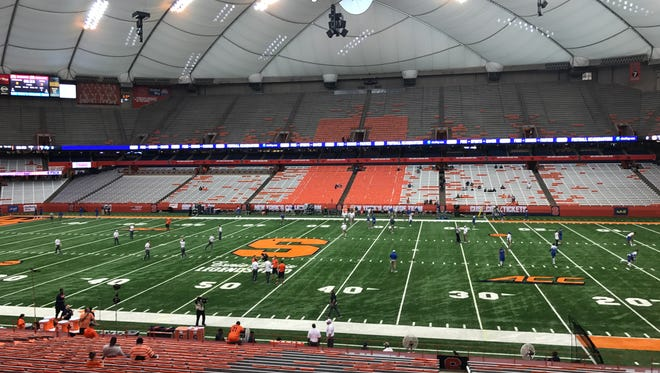 Syracuse hosts MTSU at the Carrier Dome.
