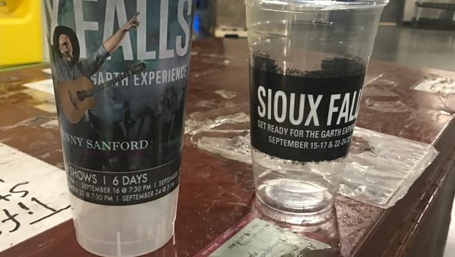 SMG, the Premier Center's management firm, is making commemorative beverage cups to serve beer and soda in during Garth Brooks' nine concerts here this month.