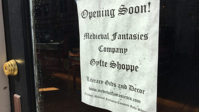 A new medieval gift shop will be opening in downtown Staunton called Medieval Fantasies Company Gyfte Shoppe on New Street across from Cranberry's.