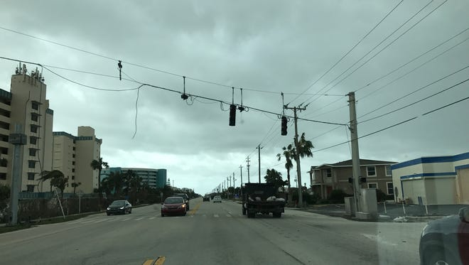 With power still out for many, the majority of traffic lights on county roads are not working. This photo is from Satellite Beach.