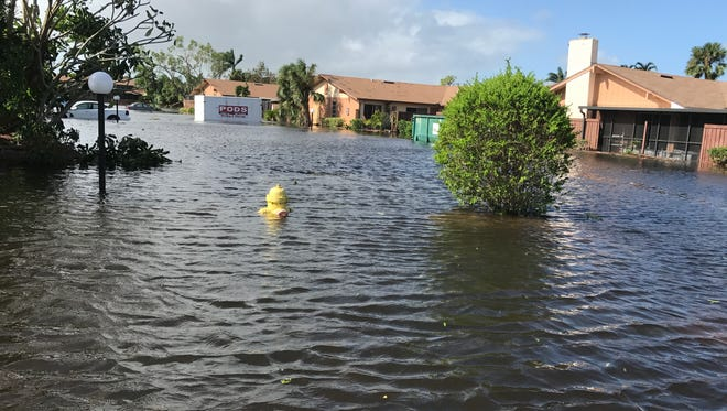 Flooding for the second time in two weeks, this time as a result of Hurricane Irma, prompted rescues and evacuations from communities along Island Park Drive in south Lee County.