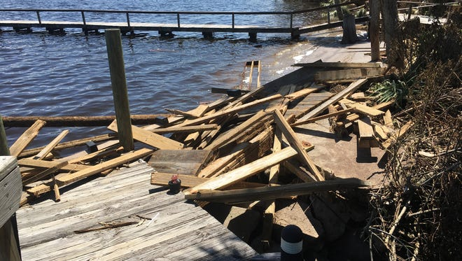 Docks, parks and land were all ruined when Hurricane Irma beat down on Titusville's shore.
