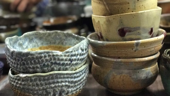 Handcrafted bowls created by local artists will raise money for Manna Food Pantries at the Pick a Bowl and Fill a Bowl event on Friday.