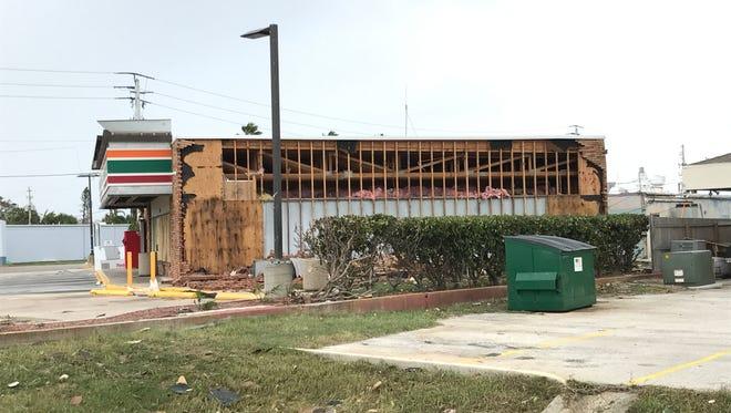 Beachside gas stations felt the brunt of Hurricane Irma's fury last weekend.