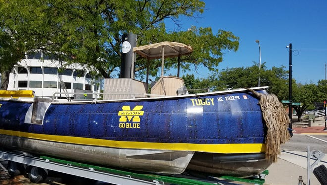 Tuggy's starboard side is perfect for University of Michigan fans and alumni.
