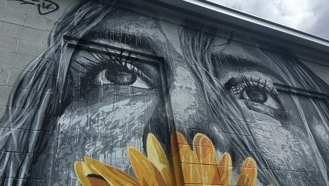 Mural work by NilsWestergard at Basic City Beer Company in Waynesboro. The mural work was done during the 3rd annual Virginia Street Arts Festival on Sept. 9, 2017.