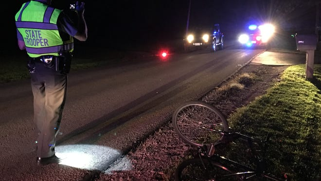 The Ohio Highway Patrol is investigating a reported hit-skip accident on Crider Road on Monday, Sept. 18, 2017. The patrol reported a man was walking a bicycle along the side of the road when a vehicle struck him and fled the scene.