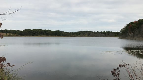 Ennis Lake in John Muir Memorial Park in Marquette County gets its water from a spring and seepage through the ground.