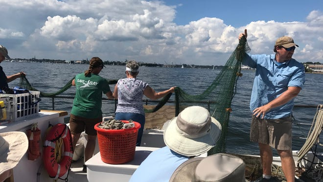 """The York County Master Watershed Stewards, of the Penn State Extension Service, spent Saturday aboard the Chesapeake Bay Foundation skipjack """"Stanley Norman.""""Photos courtesy of BJ Small, PA Media and Communications Coordinator"""