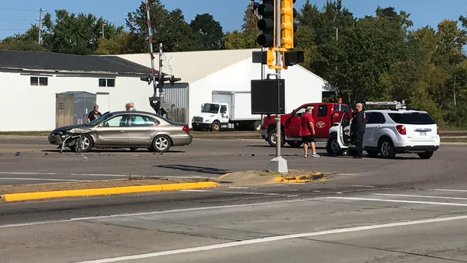 Two women were transported to Riverview Medical Center following a two-vehicle crash Tuesday at the intersection of West Grand Avenue and West Riverview Expressway in Wisconsin Rapids.