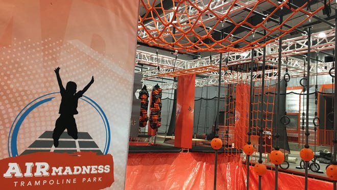 The Ninja Course at Air Madness Trampoline Park in Harrisburg.