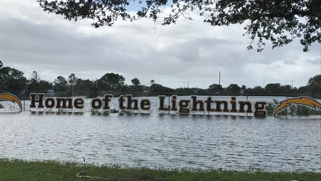 The campus of Lehigh Senior High School in Lehigh Acres was battered by Hurricane Irma on Sept. 10.