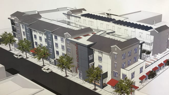 FILE IMAGE: An artist's rendering of the Midpen Housing project planned for Chinatown.