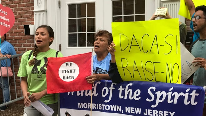 Protesters rally in support of the Deferred Action for Childhood Arrivals program in Morristown in August.