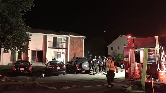 The Green Bay Metro Fire Department were at the scene of a Vine Street apartment fire for several hours Monday night. There were no injuries.