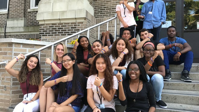 A student group at Linden High School has kick-started a fundraiser to help a high school near Houston that was destroyed by Hurricane Harvey.