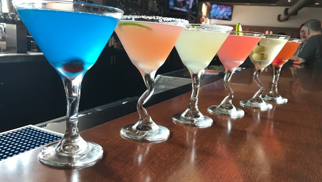 Shorewood officials recently issued the village's last two liquor licenses to Blue's Egg and The Ruckus. This photo shows seven signature martinis offered at Harry's Bar & Grill in Shorewood.