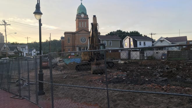 This is the site of the future Dayton City Hall where four homes were demolished this month.