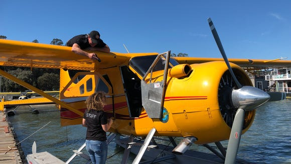 The seaplane USA TODAY flew on Thursday to test the