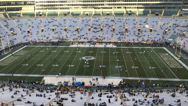 Lambeau Field before the Packers-Bears game.