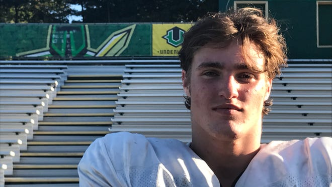 St. Joseph senior DE/FB Kyle Clark suffered a serious leg injury in May of 2016, but worked tirelessly to get back on the field. Now he's a key contributor for the Green Knights.