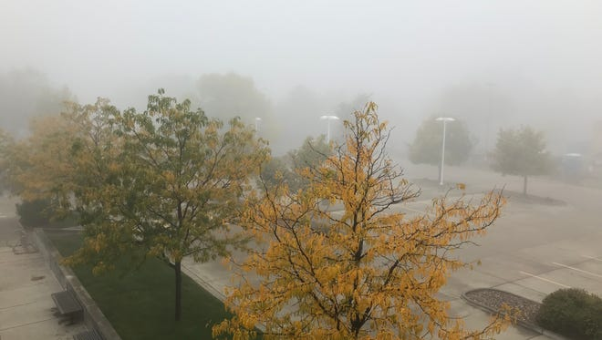 Heavy fog blanketed Fort Collins on Tuesday morning