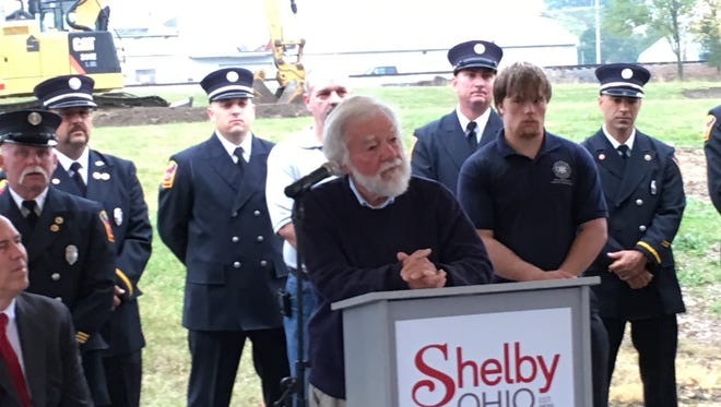 Grant Milliron talked Friday about his desire to build the city a new Shelby Fire Department.
