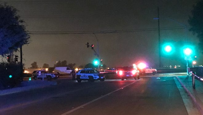 Oxnard police were investigating a shooting that killed one and sent another to a local hospital on Sunday night.