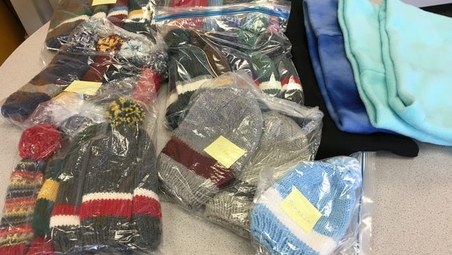 At the Bridgewater Library on Oct. 5, we collected more than 25 hats and five cowls for people in need this winter.