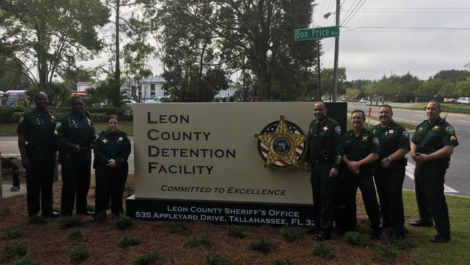 The Leon County Jail was renamed the Leon County Detention Facility. A new sign was unveiled Oct. 10.