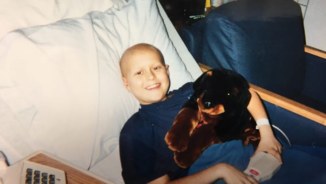 Colby Chapman's family was the first recipient of help from the Teddy Bear Cancer Foundation.