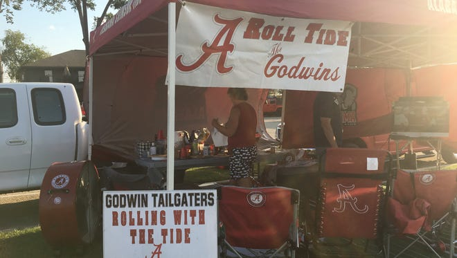 The Godwins have traveled from Georgia to each Alabama home game since 1989.