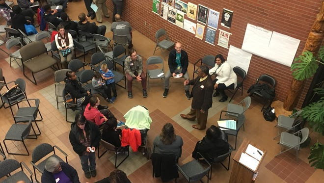 About 300 people gathered at Chemeketa Community College Thursday, Oct. 12 for a forum put on by the Salem-Keizer School District and the local branch of the NAACP. Participants discussed issues facing students of color and potential solutions.