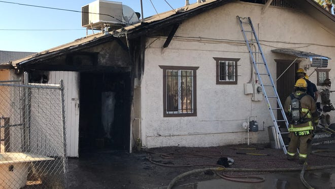 A 9-year-old boy escaped a house fire Monday afternoon in Phoenix.