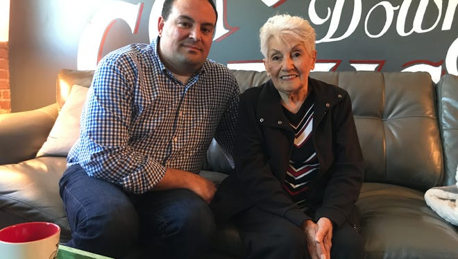 Rose DiMaria with her grandson, Gregory Ciccone.