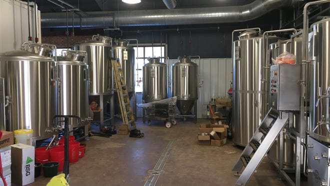 Here's a peek inside the Little Miami Brewing Co. under construction on Oct. 17, 2017.