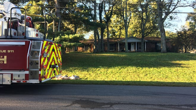 A fire damaged a home in Hendersonville on Oct. 18, 2017.