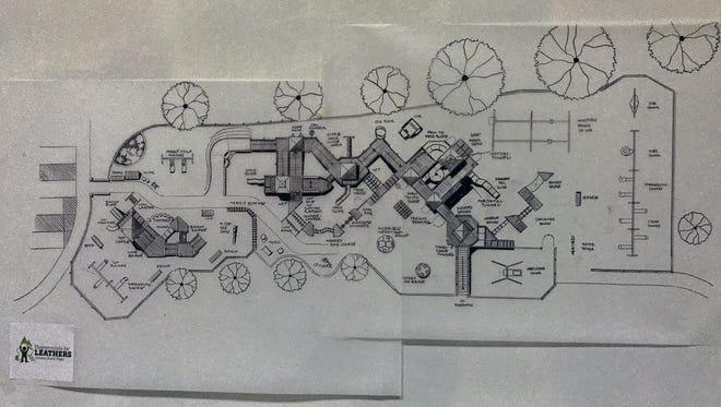 Conceptual design of the new Kids Kingdom 2 playground.
