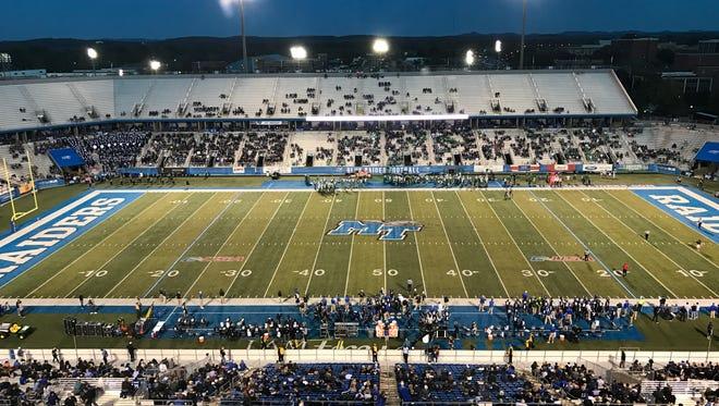 MTSU hosts Marshall at Floyd Stadium on Oct. 20, 2017.