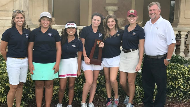 The Naples High School girls golf team won the Class 2A-Region 7 title on Monday, Oct. 23, 2017 at Vineyards Country Club in Naples, Fla.