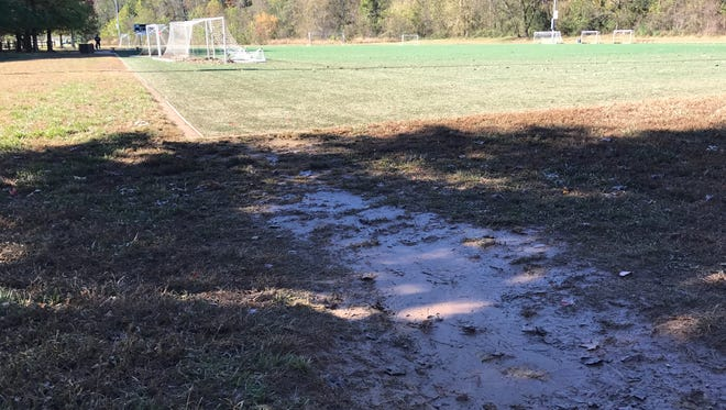 John B Lewis Soccer Complex after rain storms hit WNC on Monday, Oct. 23.