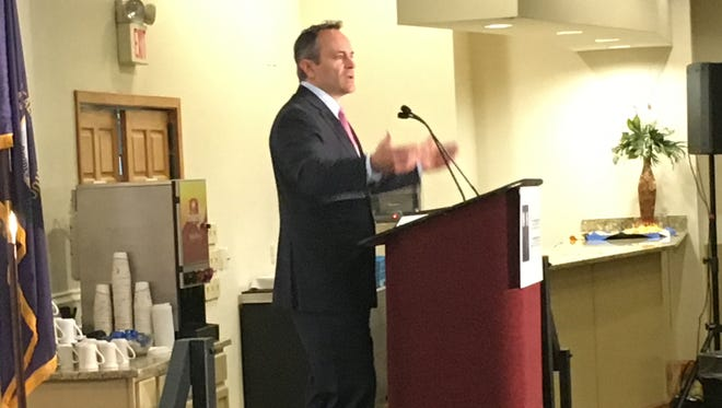 Kentucky Gov. Matt Bevin speaks to the Northern Kentucky Chamber at Receptions Banquet Hall in Erlanger on Wednesday