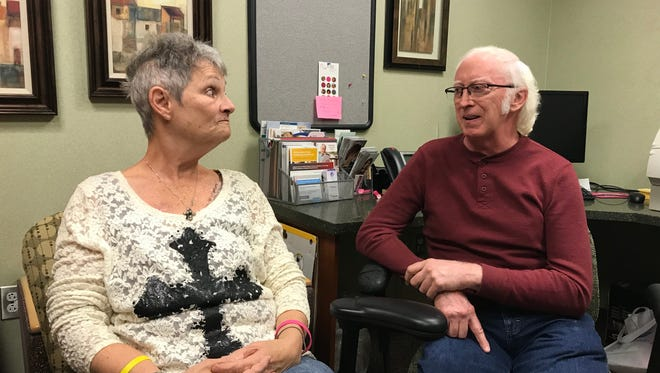 Linda Estelle and Dave Lucas know each other from being treated for cancer together.