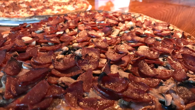 The Super Special is Doc's Dry Dock's biggest seller piled high with pepperoni, sausage, mushrooms, green peppers, onions and black olives.