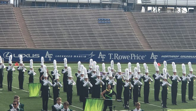Fossil Ridge High School's marching band earned 2nd place at the state championship competition Saturday.