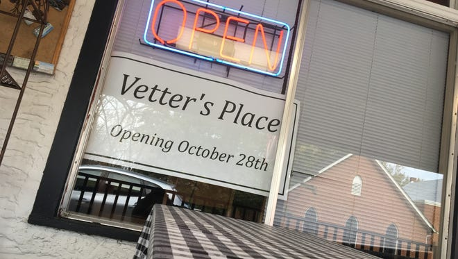 The new restaurant Vetter's Place in Churchville, where T. Bone Tooters used to be located.