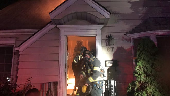 Dumont firefighters quickly knocked down a fire that broke out in a residential home on Wednesday night.
